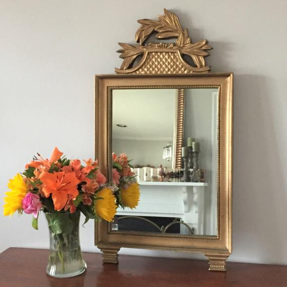 Vintage Gold Wall Mirror - Image 3 of 7