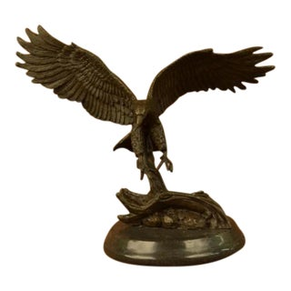 Flying American Eagle Bronze Sculpture