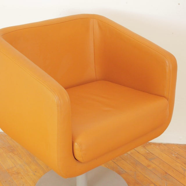 Terra Cotta Late 20th Century Loewenstein Cube Swivel Chairs - a Pair For Sale - Image 8 of 11