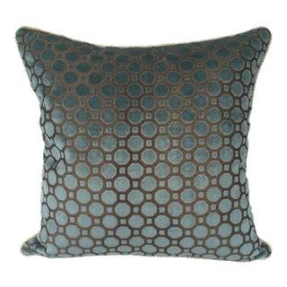 Robert Allen Velvet Geo Pillow Cover