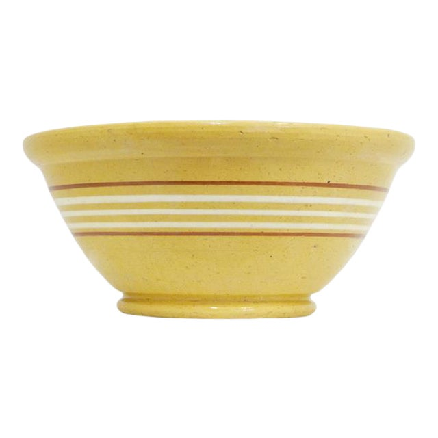 Antique Yelloware Bowl For Sale