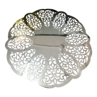 Silver Openwork Trivet For Sale