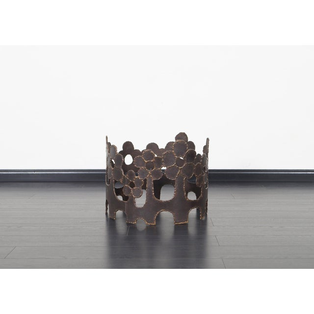 1970s Vintage Bronze Coffee Table For Sale - Image 5 of 10
