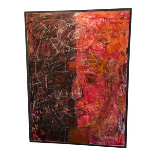"""Large Original Abstract Expressionist Painting """"Love Will Keep It Together"""" by Ellen Reinkraut For Sale"""