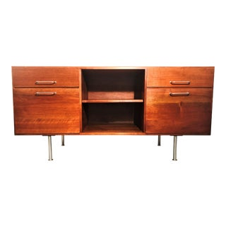 Jens Risom Walnut Credenza For Sale