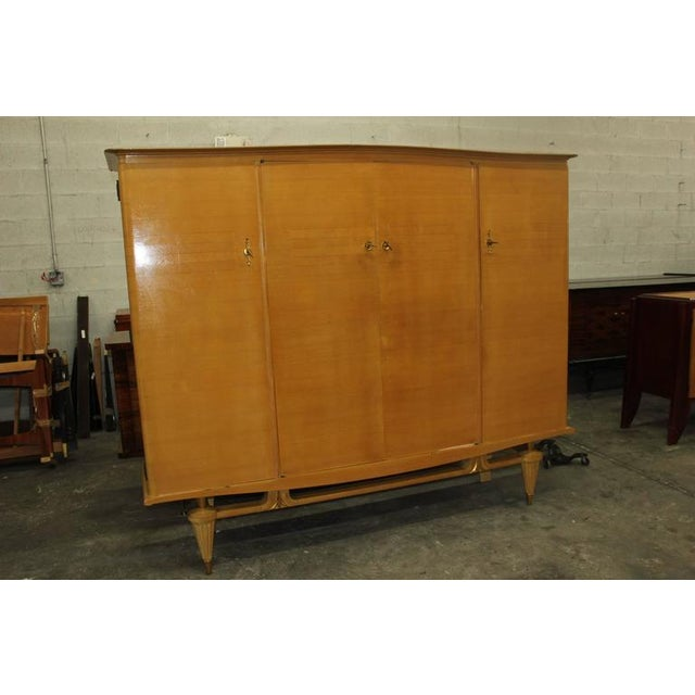 French Art Deco Sycamore Armoire - Image 2 of 7