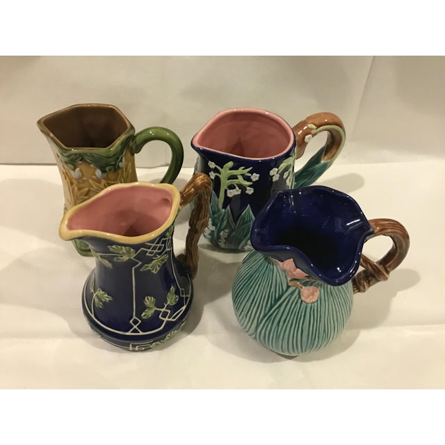 Jay Wilfred for Charles Sadek Inc. Majolica Pitchers - Set of 4 - Image 5 of 11