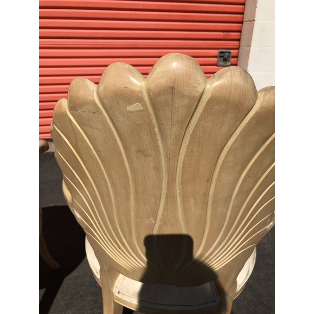 Grotto Italian Carved Wood Seashell Shell Back Dining Chair For Sale - Image 12 of 12