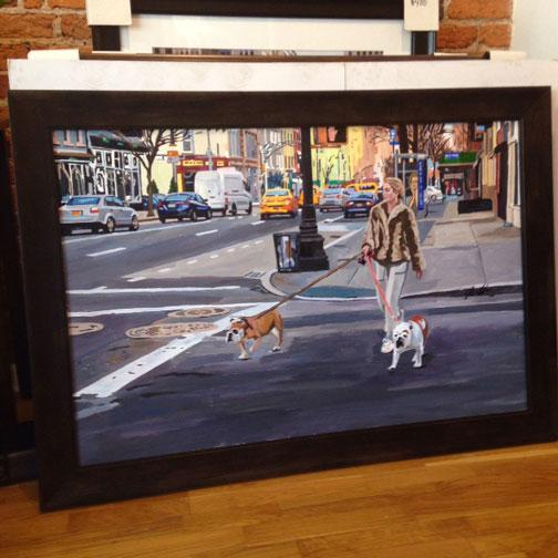 This is for the original painting. acrylic on canvas 28″ x 42″. Measures around 34″ x 48″ with the frame. Really nice,...