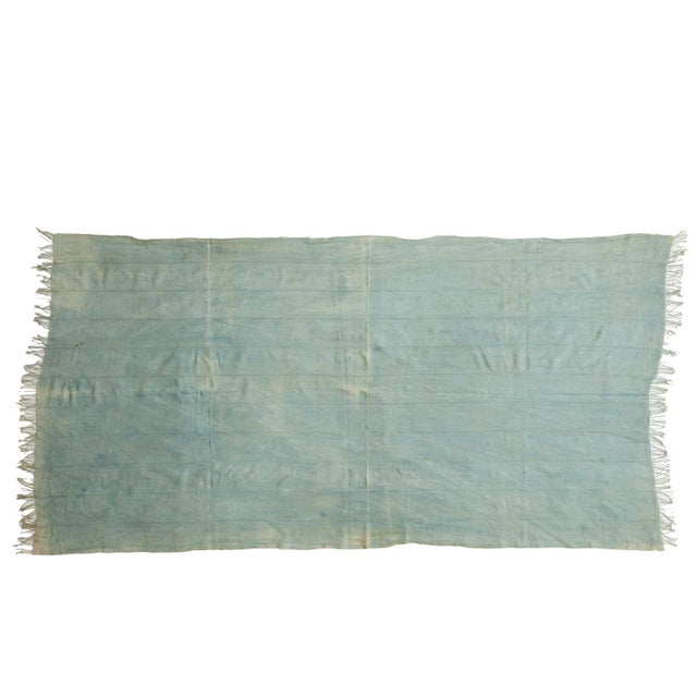 Vintage Denim Indigo African Textile Throw For Sale In New York - Image 6 of 6