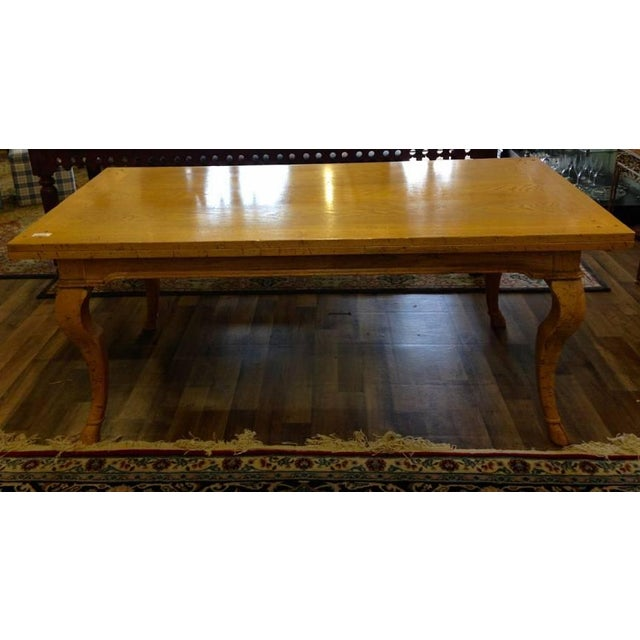 Modern Cabriole Leg Dining Table - Image 2 of 4