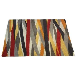 1970s Geometric Wool Rug For Sale