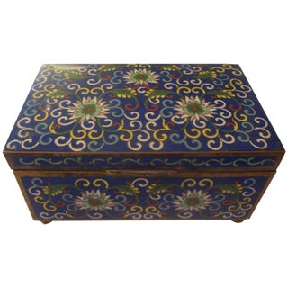 Early 20th Century Antique Chinese Export Cloisonné Box For Sale