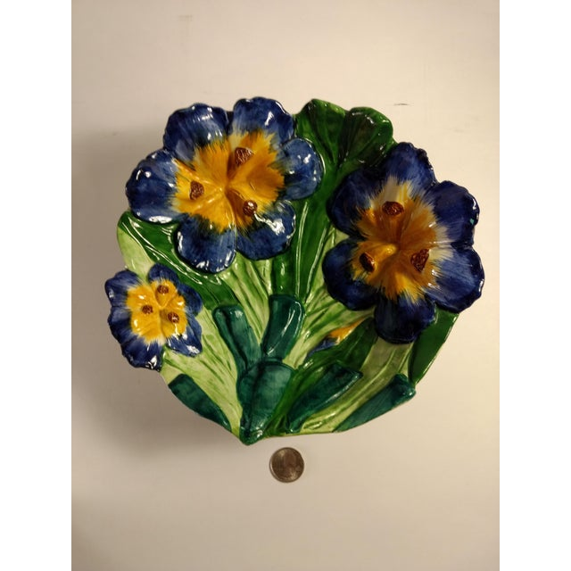 Vintage Italian Hand Painted Iris Bowl - Image 10 of 10