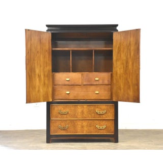 Chin Hua Burl & Brass Modern Armoire Dresser Preview