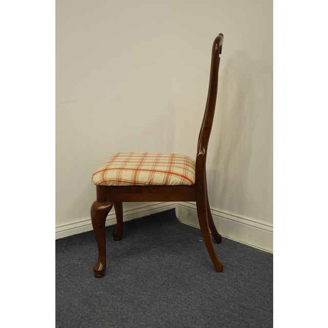 Brown Keller Furniture Solid Cherry Traditional Queen Anne Style Side Chair For Sale - Image 8 of 12