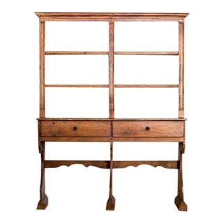 19th Century Teak and Pine Hutch For Sale