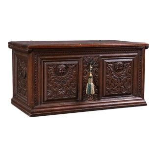Small Baroque Chest in Oak For Sale