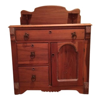 Antique Pine Storage Cabinet For Sale