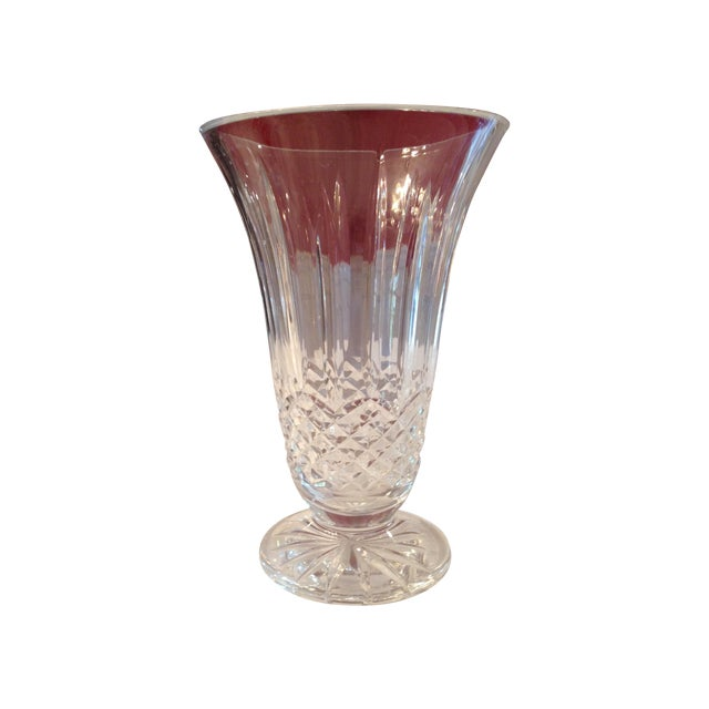 Traditional Clear Crystal Vase - Image 1 of 3