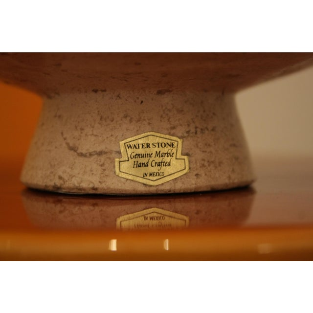 Ceramic Jorge Wilmot Miniature Pottery Owl on Travertine Pedestal For Sale - Image 7 of 8