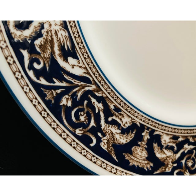 Early 21st Century Wedgwood Dinner and Salad Plates Florentine, England - Set of 3 For Sale - Image 5 of 10