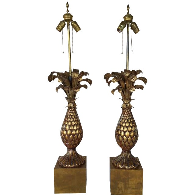 Vintage Pineapple Lamp - A Pair For Sale