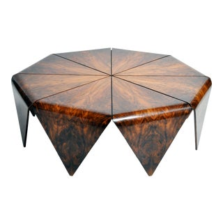 Hungarian Walnut Octagonal Coffee Table For Sale
