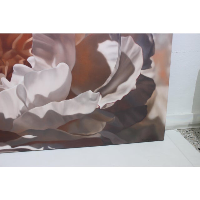 """Vintage Winifred Godfrey Painting """"Pale Peony"""" For Sale In West Palm - Image 6 of 13"""