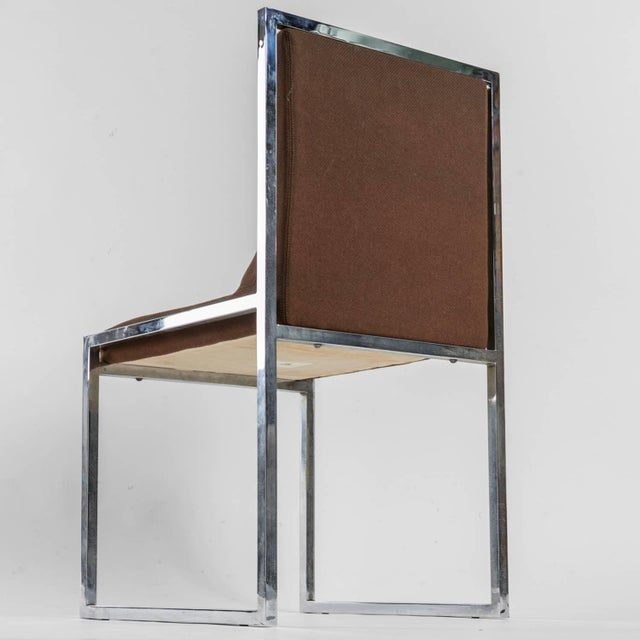 """1970s Unique Set of Six """"Wright/Wright"""" Chairs by Nanda Vigo for Driade For Sale - Image 5 of 10"""
