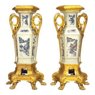 19th Century Louis XV Style Pedestals - a Pair For Sale
