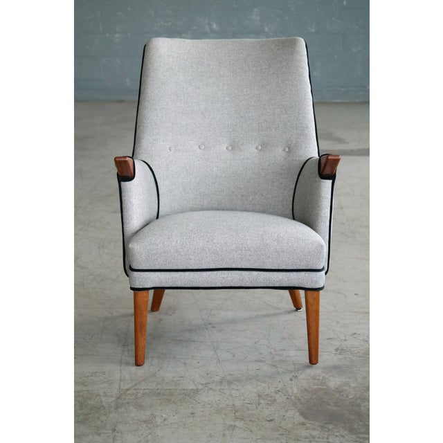 "Danish Modern Svend Skipper ""Mama Bear"" Wingback Lounge Chair For Sale - Image 3 of 11"