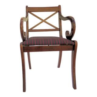 """""""Bombay Co."""" Single Mahogany Chair"""