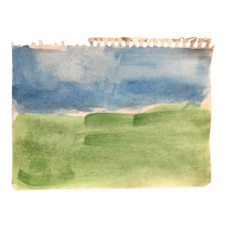 Abstract Color Field Landscape Watercolor For Sale