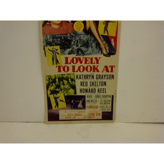 """Vintage Movie Poster """"Lovely to Look At"""" Kathryn Grayson & Red Skelton - 1952 For Sale - Image 5 of 6"""