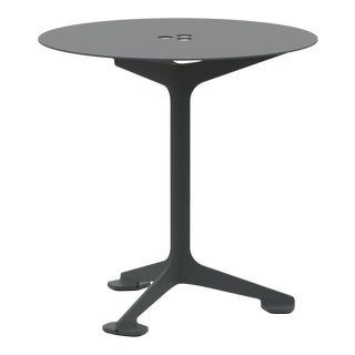 Jackson Cafe Table Round in Graphite For Sale