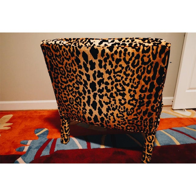 Mid-Century Modern Mid-Century Leopard Baughman Style Parsons Chair For Sale - Image 3 of 10