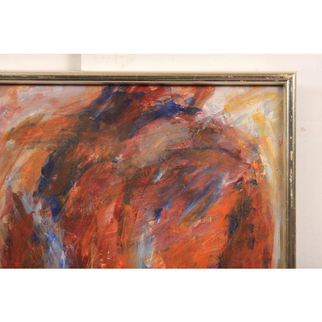Contemporary abstract composition featuring a standing nude. The detail of the model's derriere is rendered primarily in...