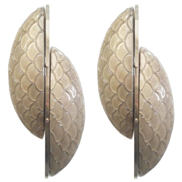 Metal Pair of Luna Oro Sconces / Flush Mounts by Fabio Ltd For Sale - Image 7 of 7