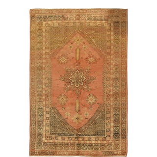 """Vintage Turkish Oushak Rug, 6'10"""" X 10'4"""" For Sale"""