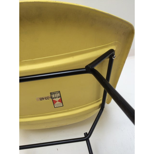 Knoll Bertoia Fiberglass Side Chair Yellow For Sale - Image 7 of 11