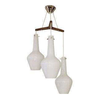 Jonathan Adler Danish Modern 3 Pendant Hanging Light For Sale