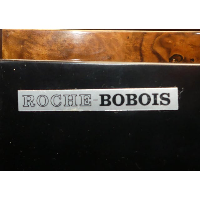 Vintage Roche Bobois Lacquered Burl Wood Credenza For Sale - Image 11 of 12