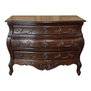 Antique French Louis XIV Mahogany Commode For Sale
