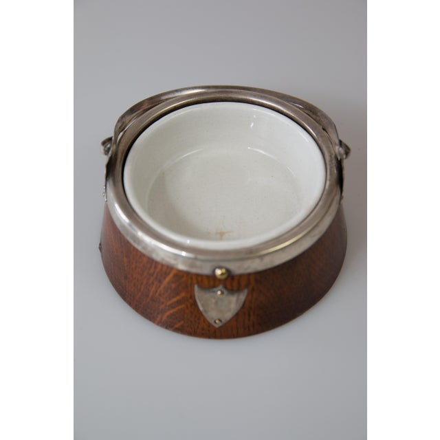 Cottage Early English Oak Jam Jar Mustard Pot Pate For Sale - Image 3 of 6