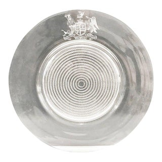 20th Century Contemporary Engraved Glass Charger