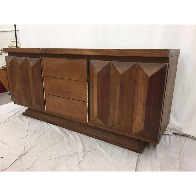Mid-Century Modern Brutalist Kagan Style Dresser For Sale - Image 5 of 11