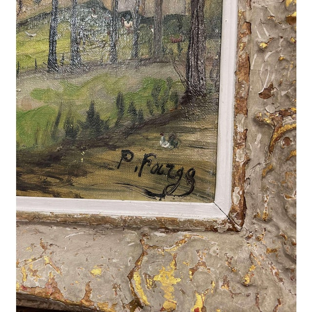 French Early 20th Century French Oil on Canvas Painting Signed P. Farge For Sale - Image 3 of 13