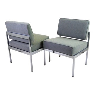 1960s Mid-Century Modern Steelcase Lounge Chairs - a Pair For Sale
