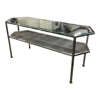 Andrew Martin Hexagonal Console Table For Sale